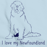 I Love My Newfoundland Light blue Art Preview
