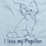 I Love My Papillon Light blue Art Preview