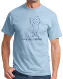Standard Light Blue I Love my Papillon - Papillon Lover Owner Parent Cute Dog T-shirt
