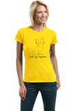 Ladies Yellow I Love my Papillon - Papillon Lover Owner Parent Cute Dog T-shirt