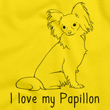 I Love My Papillon Yellow Art Preview