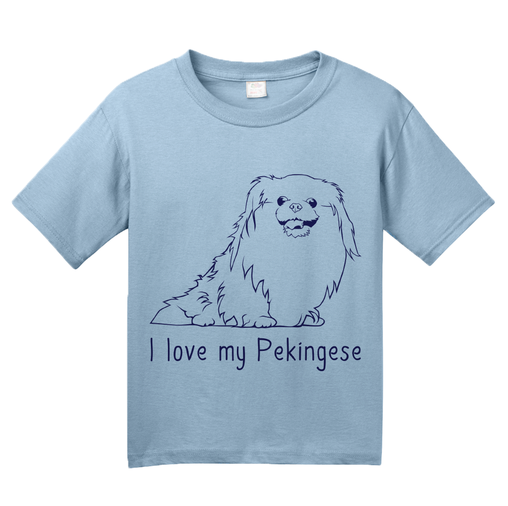 Youth Light Blue I Love my Pekingese - Pekingese Lover Owner Parent Cute Dog T-shirt