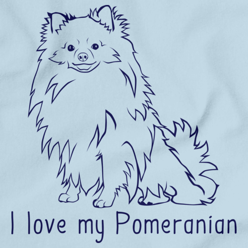 I Love My Pomeranian Light blue Art Preview