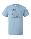 Standard Light Blue I Love my Pomeranian - Pomeranian Love Owner Cute Dog Parent T-shirt