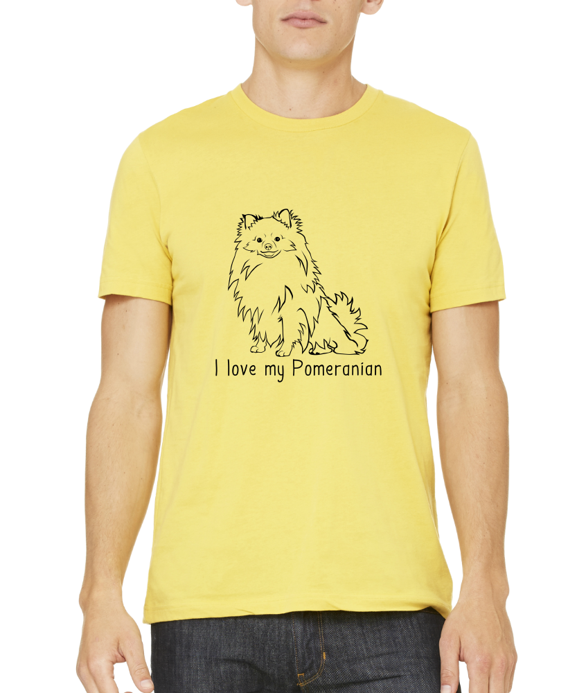 Standard Yellow I Love my Pomeranian - Pomeranian Love Owner Cute Dog Parent T-shirt