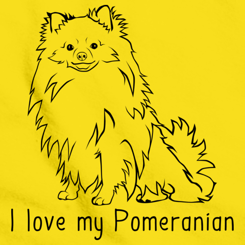I Love My Pomeranian Yellow Art Preview