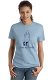 Ladies Light Blue I Love my Poodle - Poodle Owner Love Dog Parent Cute Darling T-shirt
