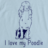I Love My Poodle Light blue Art Preview