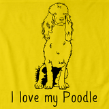 I Love My Poodle Yellow Art Preview