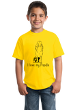 Youth Yellow I Love my Poodle - Poodle Owner Love Dog Parent Cute Darling T-shirt