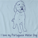 I Love My Portugese Water Dog Light blue Art Preview