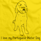 I Love My Portugese Water Dog Yellow Art Preview