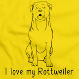 I Love My Rottweiler Yellow Art Preview