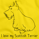 I Love My Scottish Terrier Yellow Art Preview