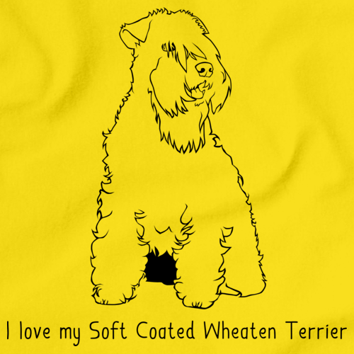 I Love My Soft Coated Wheaten Terrier Yellow Art Preview