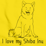I Love My Shiba Inu Yellow Art Preview