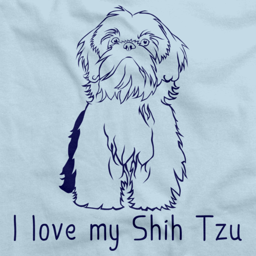 I Love My Shih Tzu Light blue Art Preview