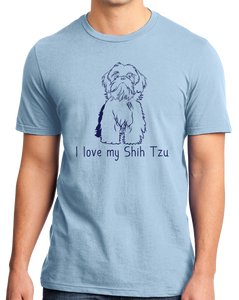 Standard Light Blue I Love my Shih Tzu - Shih Tzu Dog Cute Love Owner Fun Gift T-shirt