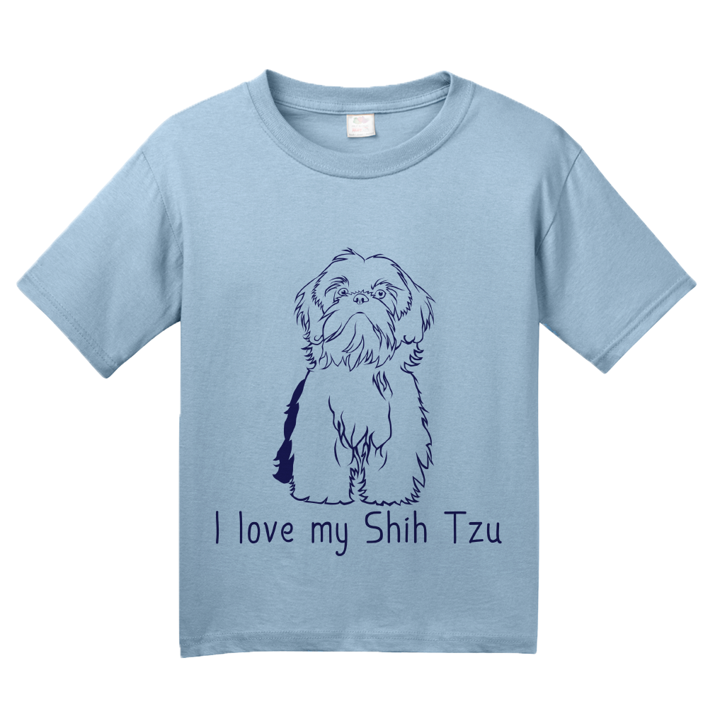 Youth Light Blue I Love my Shih Tzu - Shih Tzu Dog Cute Love Owner Fun Gift T-shirt