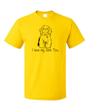 Standard Yellow I Love my Shih Tzu - Shih Tzu Dog Cute Love Owner Fun Gift T-shirt