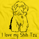I Love My Shih Tzu Yellow Art Preview
