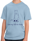 Youth Light Blue I Love my Siberian Husky - Siberian Husky Owner Love Dog Gift T-shirt
