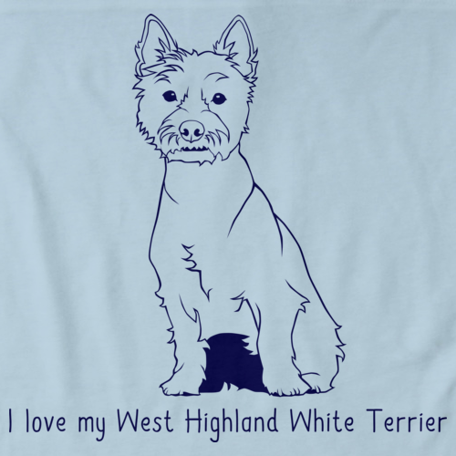 I Love My West Highland White Terrier Light blue Art Preview