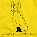 I Love My West Highland White Terrier Yellow Art Preview