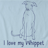 I Love My Whippet Light blue Art Preview
