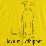 I Love My Whippet Yellow Art Preview