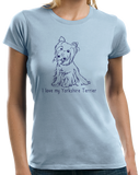Ladies Light Blue I Love my Yorkie - Yorkie Owner Lover Cute Dog Love Fun Gift T-shirt