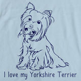 I Love My Yorkie Light blue Art Preview