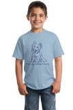 Youth Light Blue I Love my Yorkie - Yorkie Owner Lover Cute Dog Love Fun Gift T-shirt