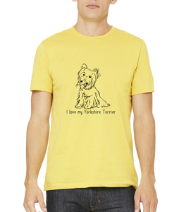 Standard Yellow I Love my Yorkie - Yorkie Owner Lover Cute Dog Love Fun Gift T-shirt
