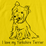 I Love My Yorkie Yellow Art Preview