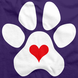 PUPPY LOVE PAW HEART Purple art preview