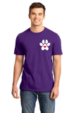 Standard Purple Puppy Love Paw Heart - Dog Puppy Love Lovers Cute Gift Perfect T-shirt