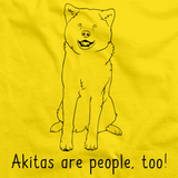AKITAS ARE PEOPLE TOO! Yellow Art Preview