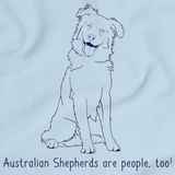 I Love my Australian Shepherd Light blue art preview