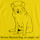 BERNESE MOUNTAIN DOGS ARE PEOPLE TOO! Yellow Art Preview