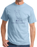 Standard Light Blue Border Collies are People, Too! - Border Collie Owner Lover Dog T-shirt