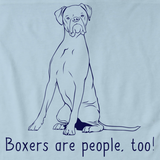 BOXERS ARE PEOPLE, TOO! Light blue Art Preview