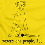 Boxers Are People, Too! Yellow Art Preview