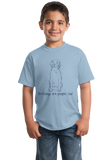 Youth Light Blue Brittanys are People, Too! -Brittany Owner Lover Dog Cute Gift T-shirt