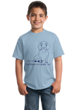 Youth Light Blue Dachshunds are People, Too! - Dachshund Weiner Dog Cute Funny T-shirt