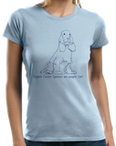 Ladies Light Blue English Cocker Spaniels are People, Too! - English Cocker Love T-shirt