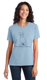 Ladies Light Blue French Bulldogs are People, Too! - French Bulldog Owner Lover T-shirt