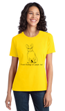Ladies Yellow French Bulldogs are People, Too! - French Bulldog Owner Lover T-shirt