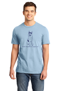 Standard Light Blue German Shepherds are People, Too! - German Shepherd Owner Lover T-shirt