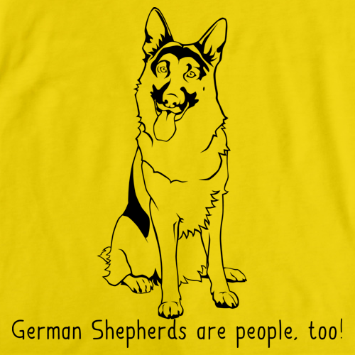 GERMAN SHEPHERDS ARE PEOPLE, TOO! Yellow Art Preview
